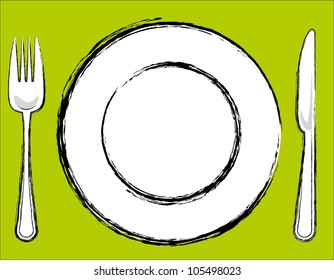 Remarkable Dinner Plate Cartoon Images Stock Photos Vectors Home Remodeling Inspirations Basidirectenergyitoicom