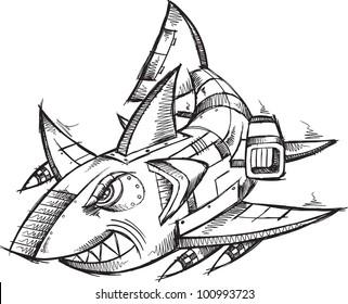 Robot Sketch Images Stock Photos Vectors Shutterstock