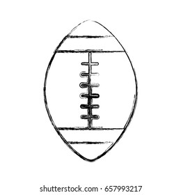 sketch draw american football ball cartoon