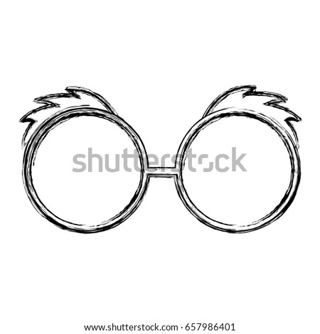 d06ad73c7068 Sketch Draw Glasses Cartoon Stock Vector (Royalty Free) 657986401 ...
