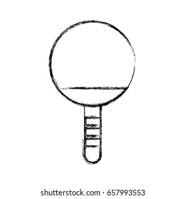 sketch draw Ping pong racket