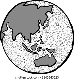 Sketch Earth Asia