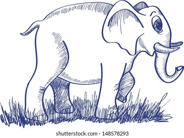 sketch with an elephant
