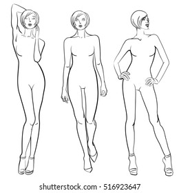 Body Fashion Sketch Images Stock Photos Vectors Shutterstock