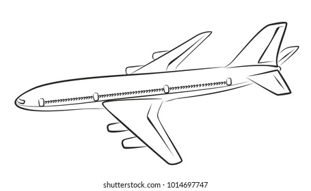 A sketch of the flying plane.