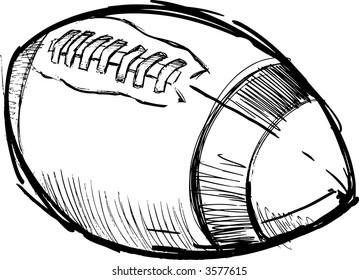 Sketch of a Football Vector Illustration