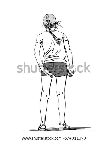 Teen girl hand in pants photo 228