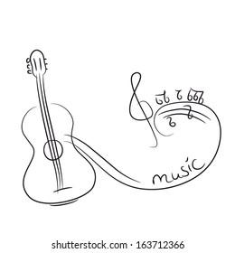 Acoustic Guitar Sketch Images Stock Photos Vectors Shutterstock