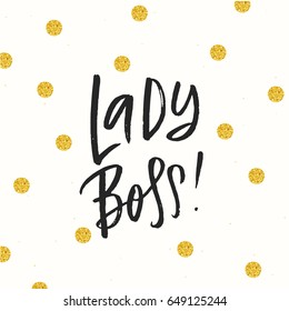 sketch hand drawn calligraphy Lady Boss