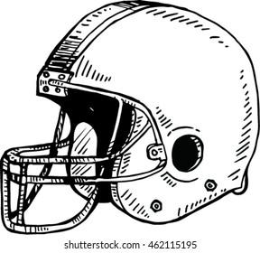 Sketch of Helmet football.