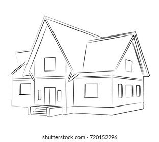 a sketch of a house