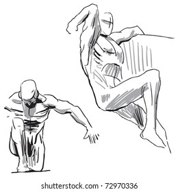 Sketch of a human body