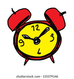sketch illustration of the alarm clock