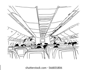 Sketch of inside the plane in vector.