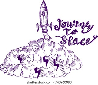 sketch, journey to space