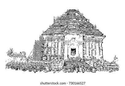 Hindu Temple Art Stock Vectors Images Vector Art Shutterstock