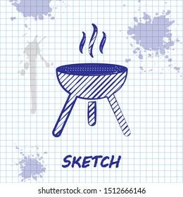 Image vectorielle de stock de Barbecue Grill Icon Top View