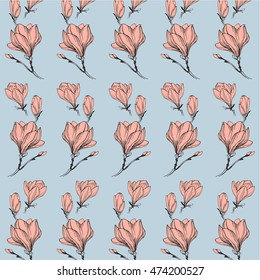 sketch magnolia pattern