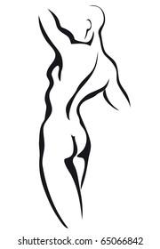 Sketch of man torso