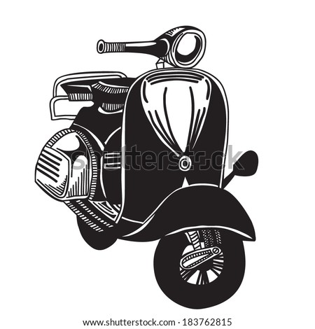 Sketch Moped Stock Vector (Royalty Free) 183762815