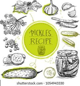 Sketch object marinade pickles recipe