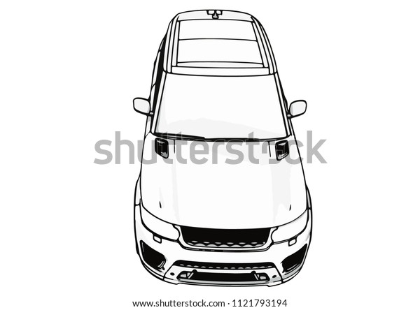 sketch of an off-road car vector