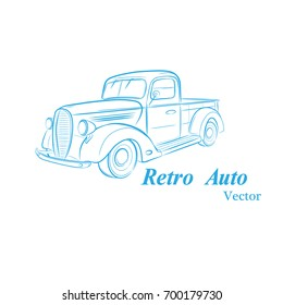 Sketch of an old car