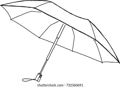Sketch open umbrella doodles sketch