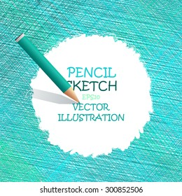Sketch pencil drawing. Vector doodles. The Illustration is used for in web design, banners, in computer design.