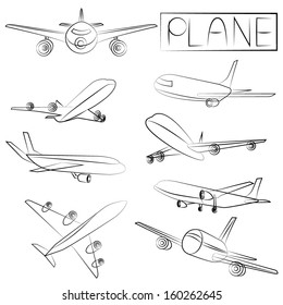 Aeroplane Drawing Images Stock Photos Vectors Shutterstock