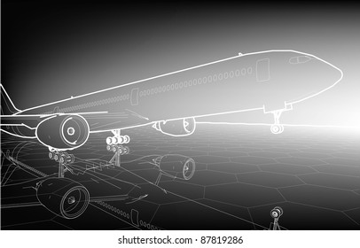 Sketch plane poster