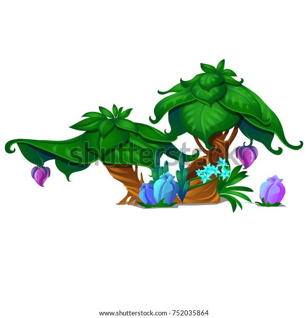 Sketch Poster Fantasy Nature Magical Plants Stock Vector (Royalty