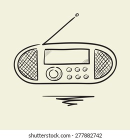 Sketch of the radio receiver