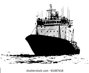 The sketch of a ship