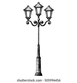 Sketch of street light , lamppost