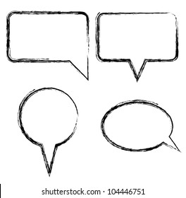 Sketch style speech bubbles