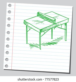 "Sketch of a ""table tennis"" table"