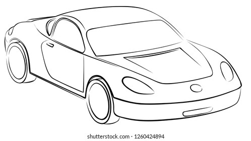 car pencil sketch stock illustration royalty free stock Future Production Cars sketch of the toy car