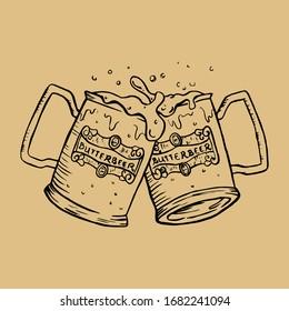 Sketch Vector Food and Drinks Illustration