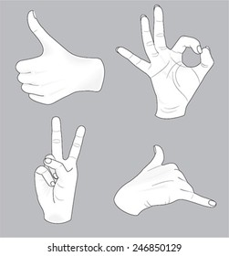 sketch of vector hands