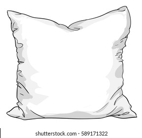 sketch vector illustration of pillow