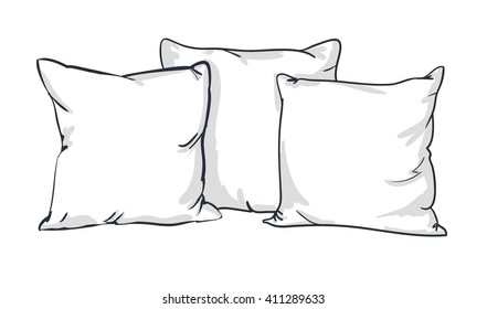 Pillow Sketch Images, Stock Photos & Vectors | Shutterstock