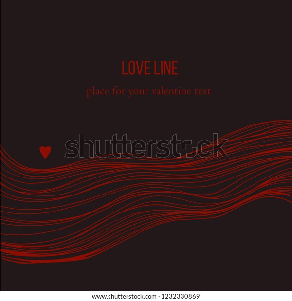Sketch Waves Isolated On Black Background Stock Vector