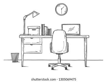 Awesome Imagenes Fotos De Stock Y Vectores Sobre Study Table White Uwap Interior Chair Design Uwaporg