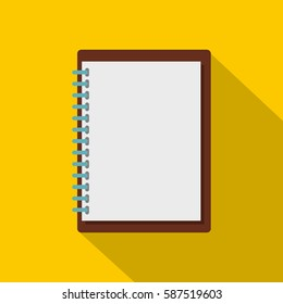 Sketchbook icon. Flat illustration of sketchbook vector icon for web