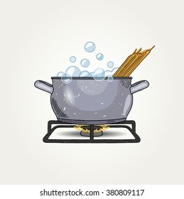 Sketched Cooking Spaghetti