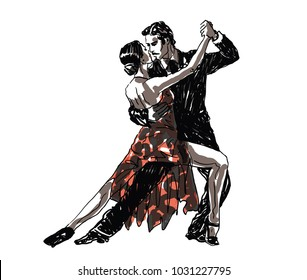 Sketched Dancers - vector