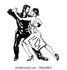 Sketched Dancers -vector