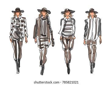 Sketched Fashion Women