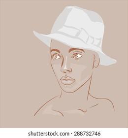 sketched lady gentleman hats design template stock vector royalty